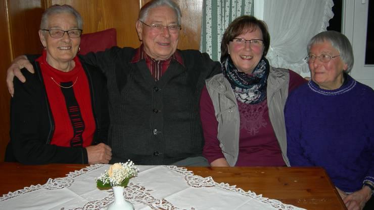 Unsere Jubilare von links:H. Ryser, O. Winzer, R. Scheuer und E. Kummer