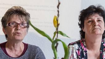 Doris Vetsch und Anita Chaaban gestern an ihrer Medienkonferenz in Buchs SG. Arno Balzarini/Key