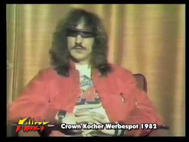 Crown Kochers Werbespot für die neue KILLER-LP «Ladykiller», die 1982 erschien