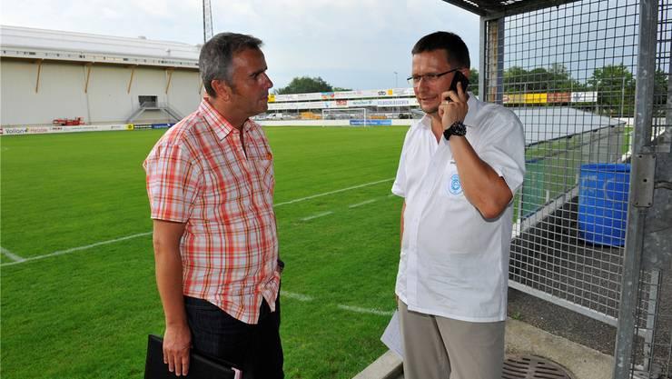 Präsident Rolf Bieri (l) und Hauptsponsor Gerd Frera (r).