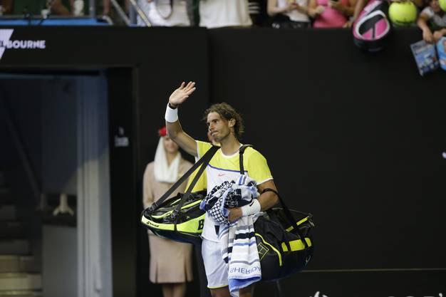 Rafael Nadal verabschiedet sich von seinen Fans frühzeitig