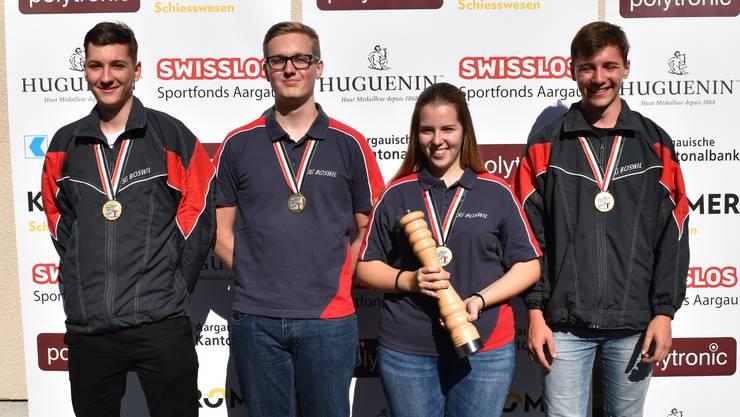 Die Jungschützen-Gruppensieger von Boswil 1.