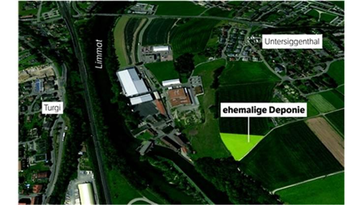 Die Lage der ehemaligen Mülldeponie Schiffmühle Süd.
