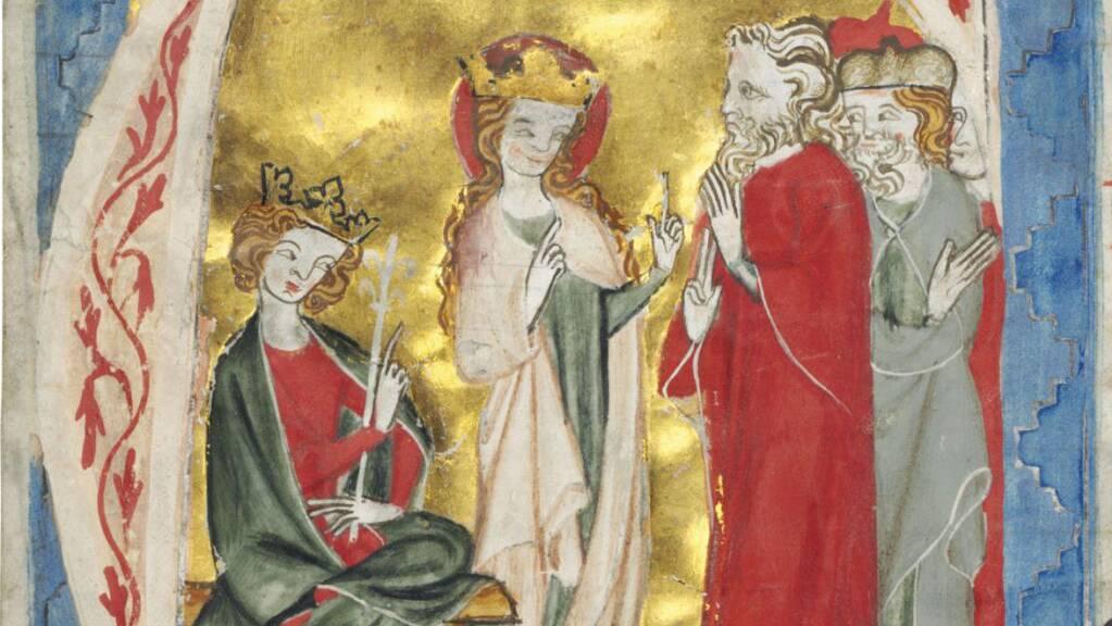 Dieses aus dem 14. Jahrhundert stammende Bild aus dem Kloster St. Katharinental in Diessenhofen TG wurde vom Historischen Museum Thurgau bei einer Auktion in London ersteigert.
