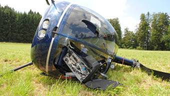 Helikopter stürzt bei Schnupperflug in Reiden ab