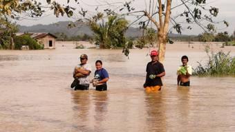 Bei der philippinischen Stadt Ormoc auf der Insel Leyte verursachte der Taifun Überschwemmungen.
