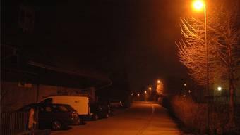 Künftig wirds in der Nacht dunkel sein auf der Dorfstrasse in Lauffohr.