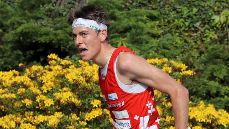 AUf dem Weg zu Gold: Der Möhliner Orientierungsläufer Matthias Kyburz an der Europameisterschaft in Tschechien.