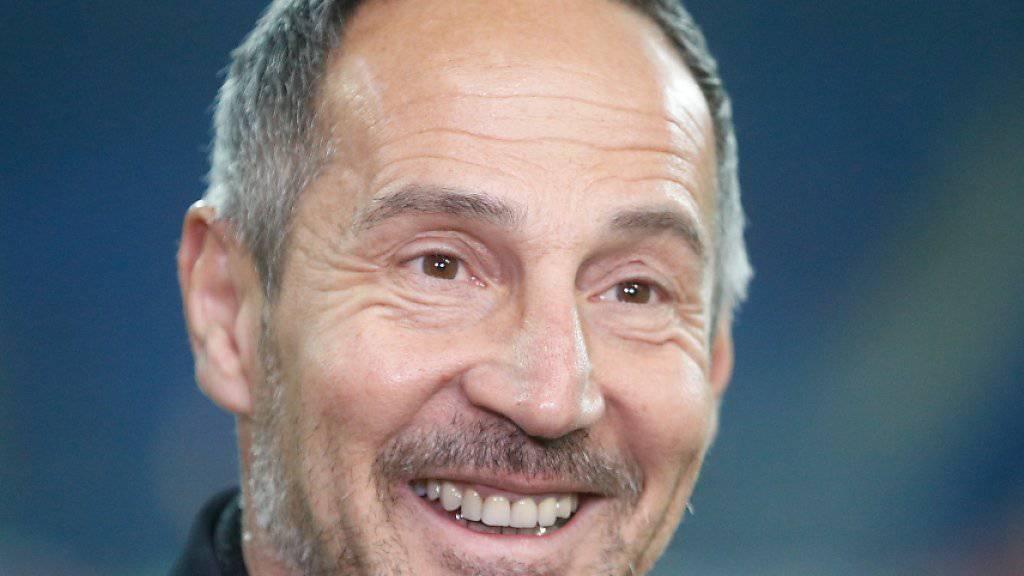 Frankfurts Trainer Adi Hütter spürt viel Respektt