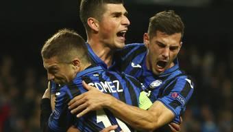 Atalanta Bergamo mit dem Schweizer Remo Freuler (rechts) steht erstmals in den Viertelfinals der Champions League
