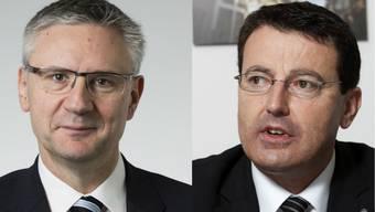 Bei der SVP sitzt Andreas Glarner (l.) Parteipräsident Thomas Burgherr (r.) im Nacken.
