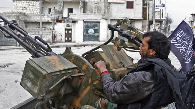 Aufständische in der nordsyrischen Metropole Aleppo