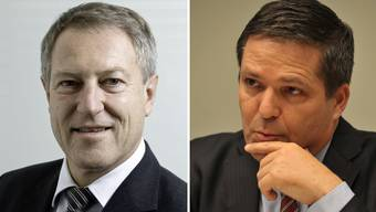 Mobiliar-Verwaltungsratspräsident Urs Berger (links) wurde in den Bankrat der Basler Kantonalbank gewählt. Andreas Sturm (rechts) wird neuer Bankratspräsident.