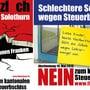 Kampagne der Linken zur Steuervorlage im Kanton Solothurn