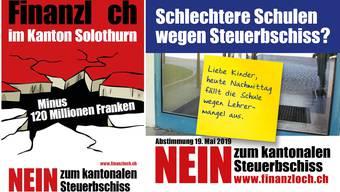 Die Kampagne der Linken zur Steuervorlage im Kanton Solothurn.