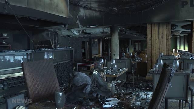 Restaurant Gfeller schon wieder in Flammen