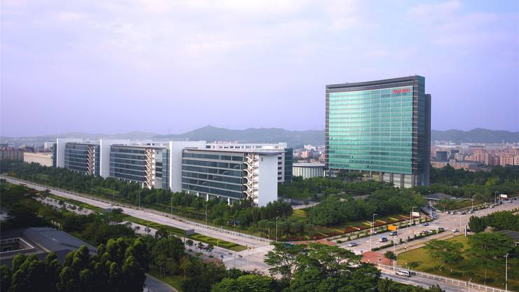 Nur ein kleiner Teil des Huawei-Hauptsitzes: Das gesamte Firmengelände ist viermal grösser.Huawei