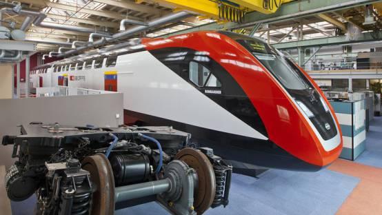 Eine Produktionshalle von Bombardier in Zürich-Oerlikon (Archiv)
