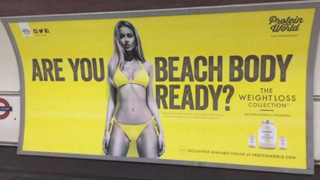 Umstrittenes Plakat für Diätmittel in London: Solche Sujets sollen auch im Schweizer öV verboten werden. Foto: HO