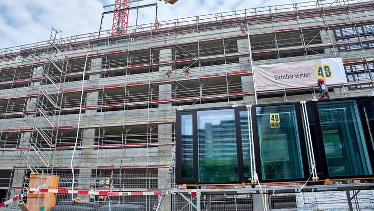 Eine Baustelle des Luzerner Fensterbauers in Aarau.