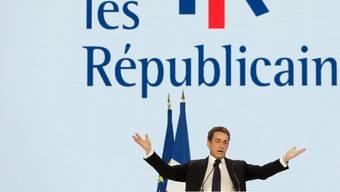 Nicolas Sarkozy am Samstag auf dem Parteitag in Paris