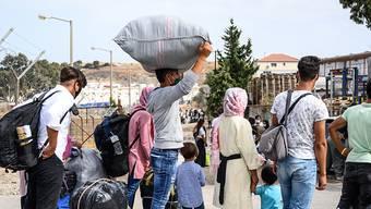 Der Aargauer Grosse Rat will sich nicht für die Aufnahme von Flüchtlingen von den griechischen Inseln einsetzen. (Archivbild)