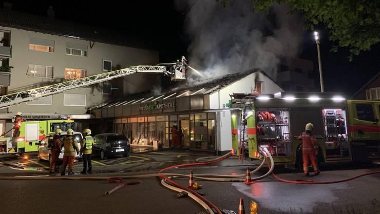 Der Brand in einer Apotheke in Winterthur wurde höchstwahrscheinlich gelegt.