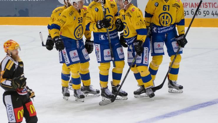 Der HC Davos feierte in Lugano einen wichtigen Sieg