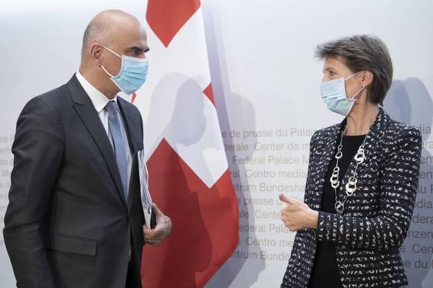 Zwischen Innenminister Alain Berset und Bundespräsidentin Simonetta Sommaruga gibt es im Moment eine Konfliktlinie.