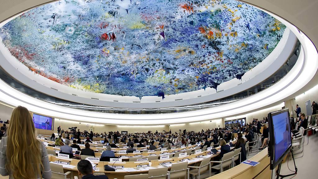 Kuppeldecke im Menschenrechtssaal des Uno-Sitzes in Genf: Die Uno kritisiert den Gesetzesentwurf des Bundesrats. (Archivbild)