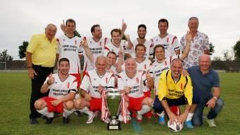 Das diesjährige Siegerteam, der FC des Grossen Rates Wallis.