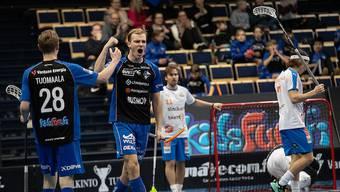 Otto Blomqvist (2.v.l.) kommt neu zu Unihockey Basel Regio.