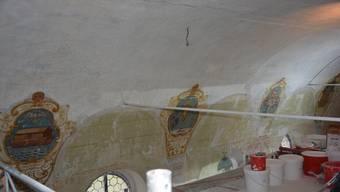 Während der Sanierung der Mägenwiler Loreto-Kapelle sind historische Malereien zum Vorschein gekommen