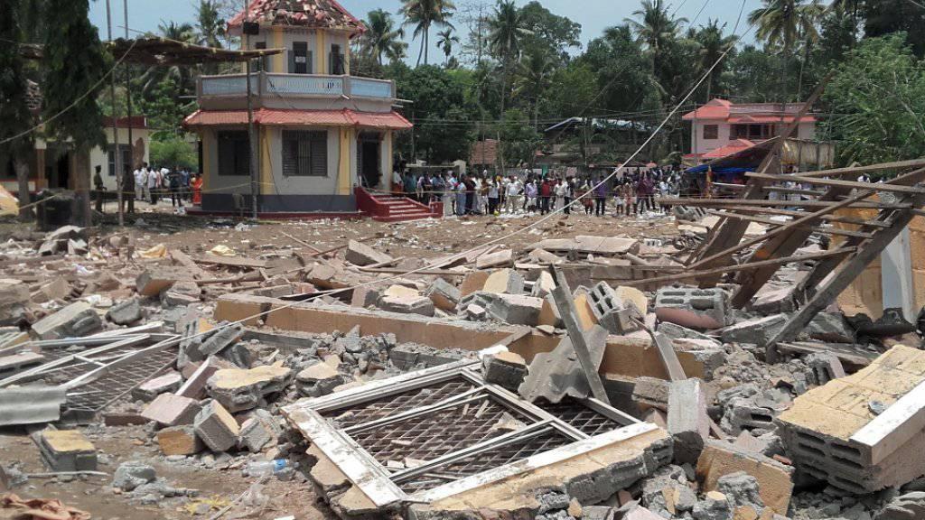 Nichts als Trümmer blieben vom Tempel übrig: Mehrere Explosionen brachten das Gebäude zum Einsturz.