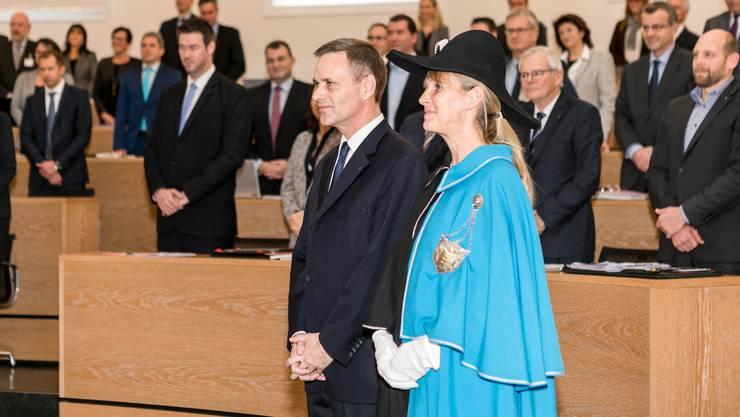 Jean-Pierre Gallati (SVP) wurde am Dienstag als Regierungsrat vereidigt.