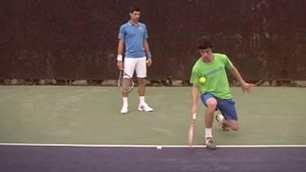 Ganz schön verwirrend: Die Tricks von Stefan Bojic bringen selbst Djokovic, Murray & Co. ins Schwitzen.