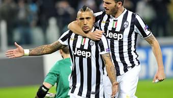 Mit drei Toren Matchwinner für Juventus Turin: Arturo Vidal