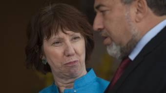 Trafen sich in Jerusalem: die EU-Aussenbeauftragte Catherine Ashton und Israels Aussenminister Avigdor Lieberman