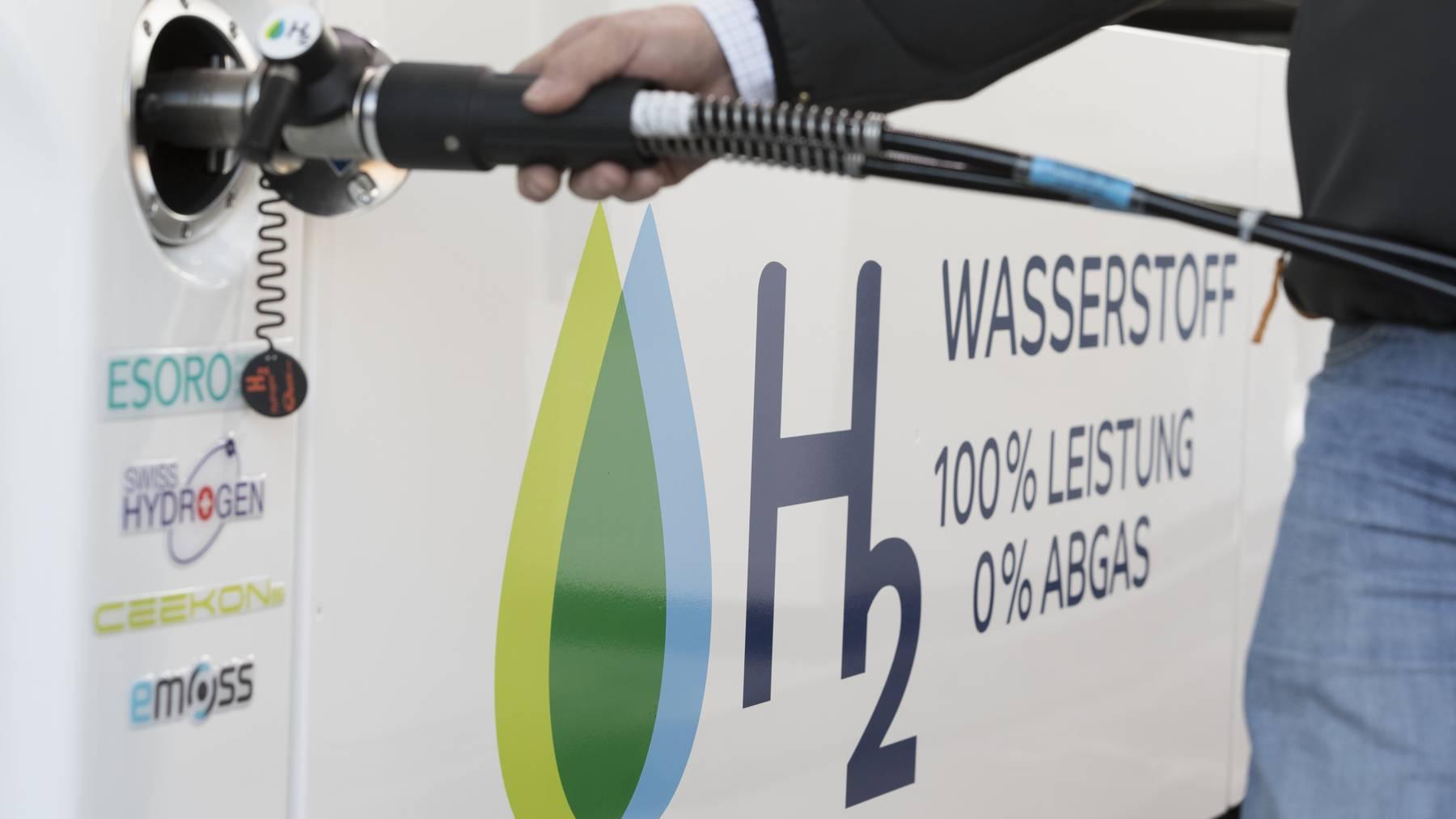 Wasserstoff Tankstelle Zapfsäule Schweiz