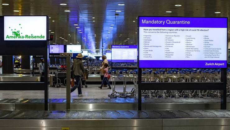 Personalverbände wenden sich an Bundesrat: Quarantänen für Flugreisende benachteilige die Branche gegenüber dem Ausland. (Symbolbild)
