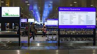 Die Verkehrsstatistik des Flughafen Zürich weist einen deutlichen Einbruch der Passagierzahlen auf.