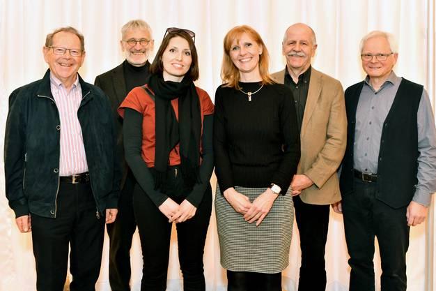 Der neue Vorstand: v.l. Christian Tännler, Fredi Kuhn, Noémie Graber, Madeleine Kuhn, Martin Planzer, Klemenz Schenker