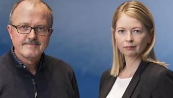 Wechsel in der Chefredaktion der Keystone-SDA. Nicole Meier folgt auf Winfried Kösters. (KEYSTONE/Alessandro della Valle)