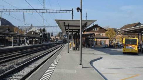 Der Vorfall ereignete sich beim Gleis 1 des Sissacher Bahnhofs. (Archiv)