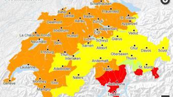Im Mittelland gilt überall Warnstufe 3.