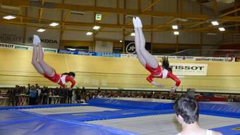 Die Trampolin-Schweizermeisterschaften finden in Lausen statt. (Symbolbild)