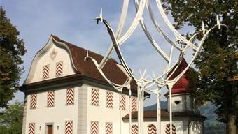 Schmückt bis zum 20. Januar 2019 den Lan-denberg: Eisenplastik von Schang Hutter.