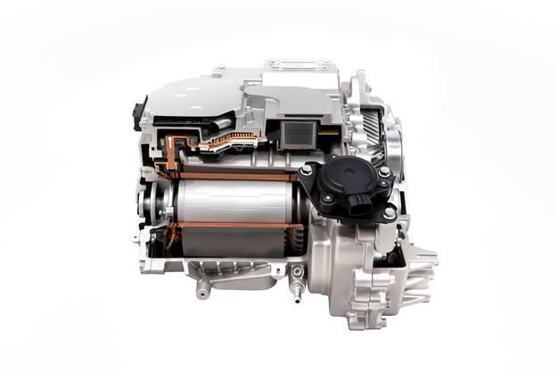 E-Motor für die Hinterachse; bis zu 600 PS sind in der Allrad-Version möglich.