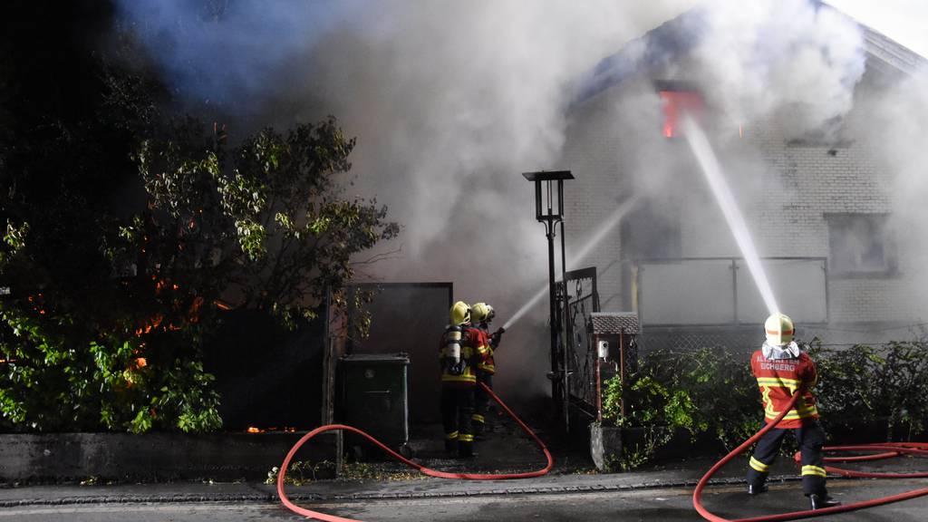 Einfamilienhaus bei Brand total zerstört