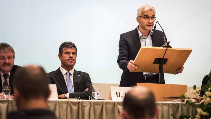 Bruno Leuppi an der Gemeindeversammlung vom Freitag. Patrick Züst